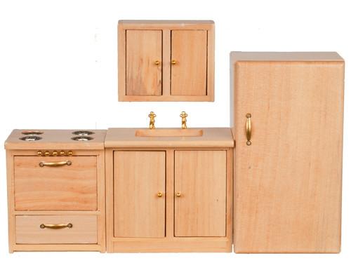 Modern Kitchen Set - Oak