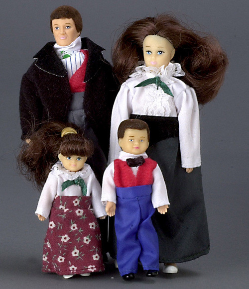 Victorian Doll Family Four - Brown