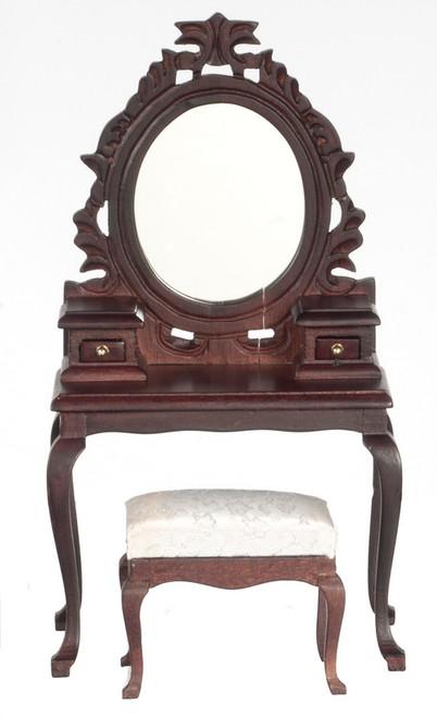 Dressing Table with Stool- Mahogany