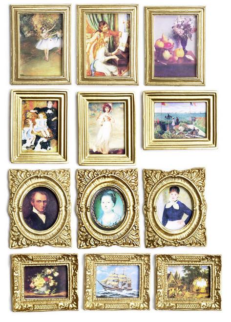 Dollhouse City - Dollhouse Miniatures Picture Assortment - Set