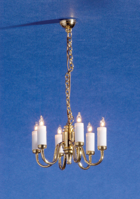 Dollhouse City - Dollhouse Miniatures 6-Arm Colonial Chandelier
