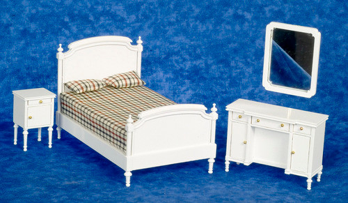 Double Bed Set - White
