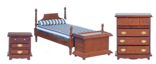 Bed Set - Walnut