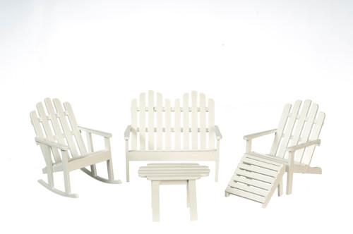 Adirondack Furniture Five - White