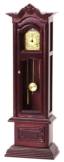 Working Grandfather Clock - Mahogany