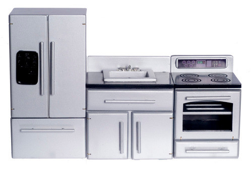 Appliance Set with Black Top