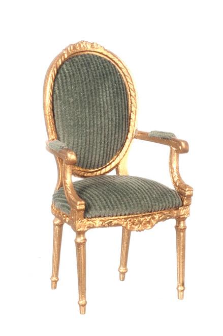 George III Open Armchair - Gold