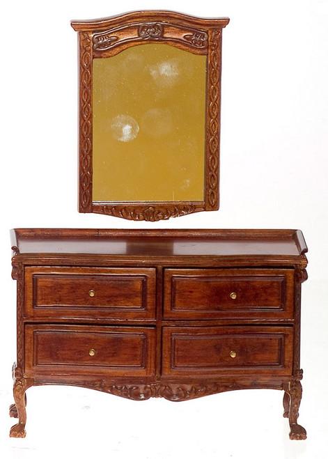 Chateau Lorraine Mirror and Dresser - Walnut