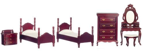 Twin Bedroom Set - Mahogany