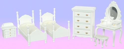 Twin Bedroom Set - White
