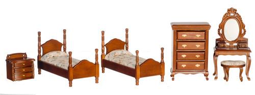Twin Bedroom Set - Walnut