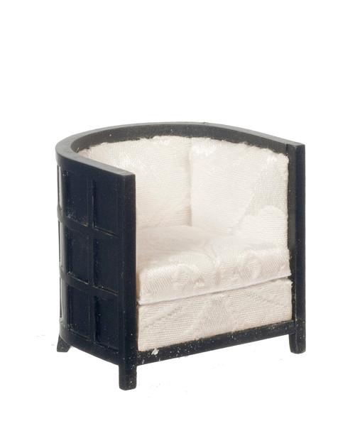 Art Deco Tub Chair - Black