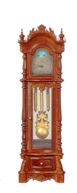 Battery Operated Chippendale Revival Clock - Walnut