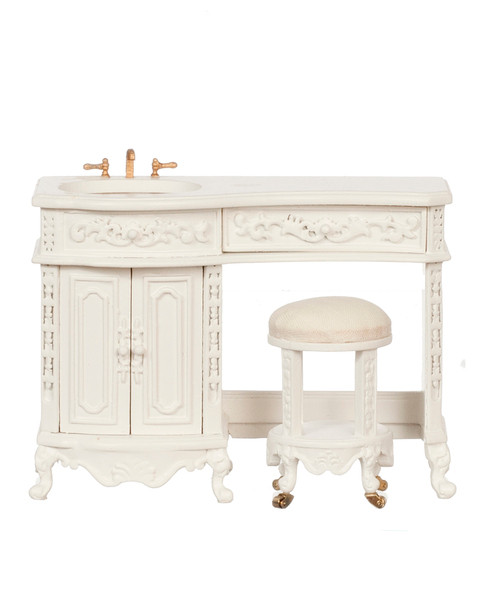 Avalon Sink With Stool - White