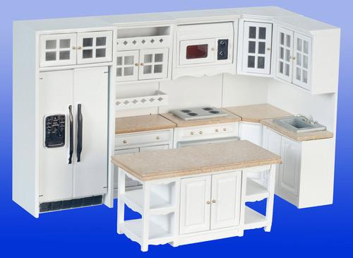 Kitchen Set - White and Marble
