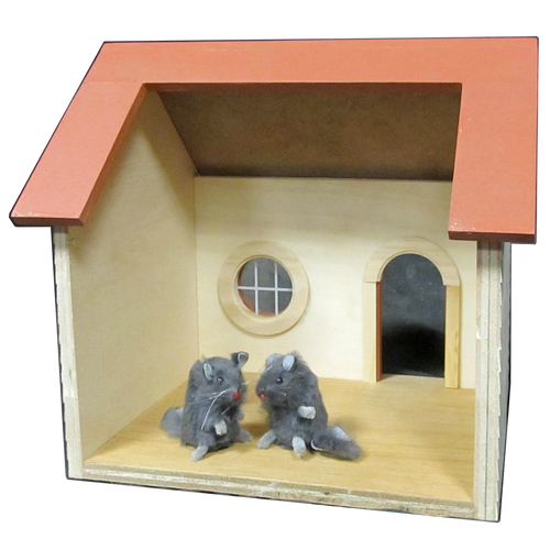 Mouse House Dollhouse Kit