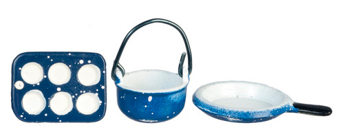 Spatter Cookware Set - Blue
