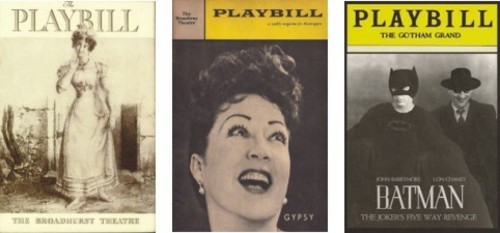 Vintage Playbills Set