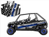 2011-2014 RZR XP4 900 graphic wrap kit with Thin Blue Line Flag pattern