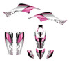 TRX400 graphic kit with pink feminine design