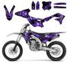 Purple Zombie graphics for Kawasaki KX450F