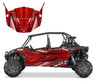 Polaris RZR 1000 XP4 graphic kit with matching door wrap