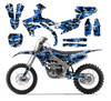 Blue Digital Camo graphics sticker kit for 2019 Yamaha YZ450F, YZ250F
