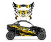 Yello racing checker wrap graphics for Can am X3