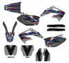 custom red and blue Honda CRF450r graphics wrap kit