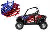 American Flag Racing Stripe UTV wrap graphics for Polaris RZR800