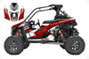 Custom graphics wrap kit for Polaris RS1 red