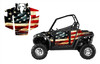 RZR 800 graphics with Tattered American Flag design