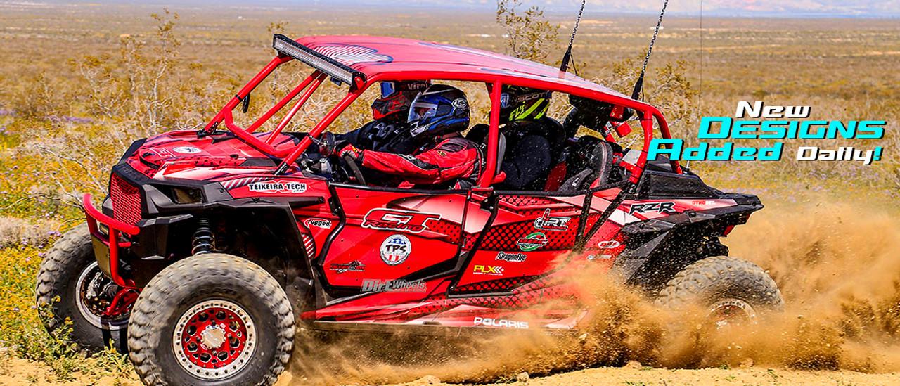 RZR4 with Dirt Specialty Doors