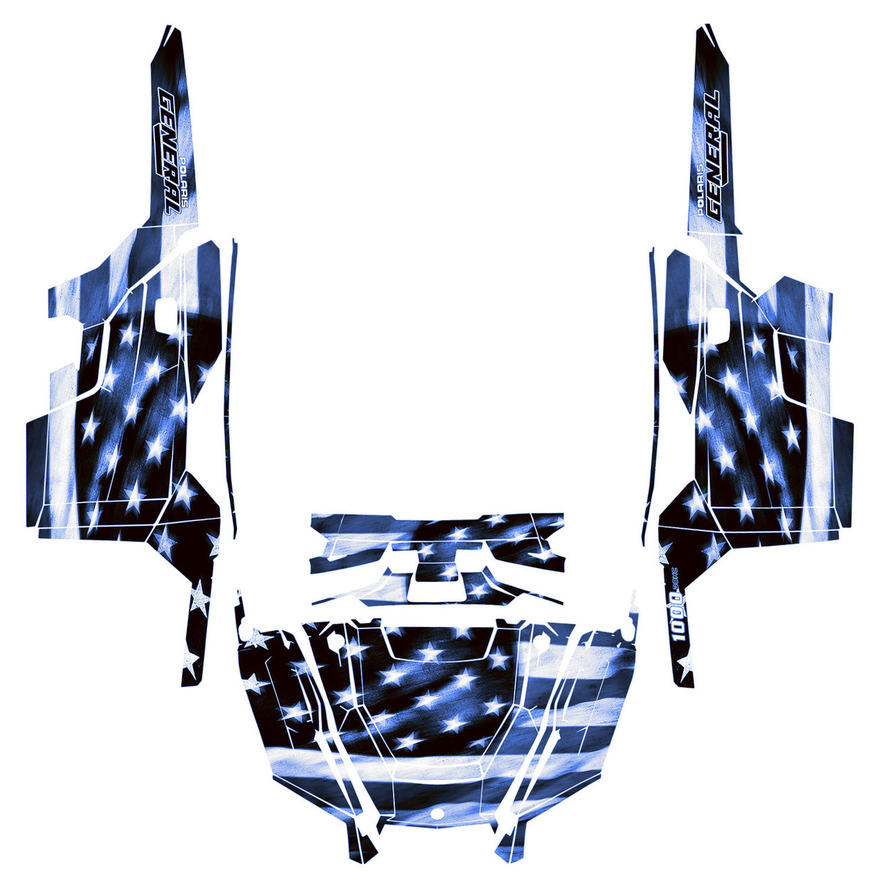 General XP 1000 Design Tattered Flag