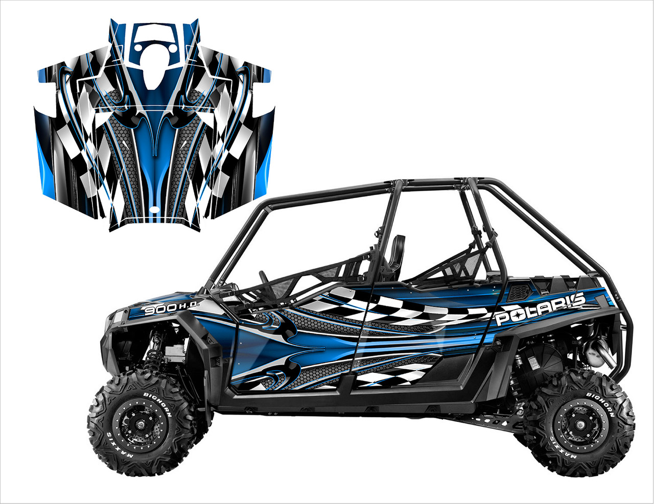 2014 Polaris RZR 4 graphics wrap kit by All Motor Graphics