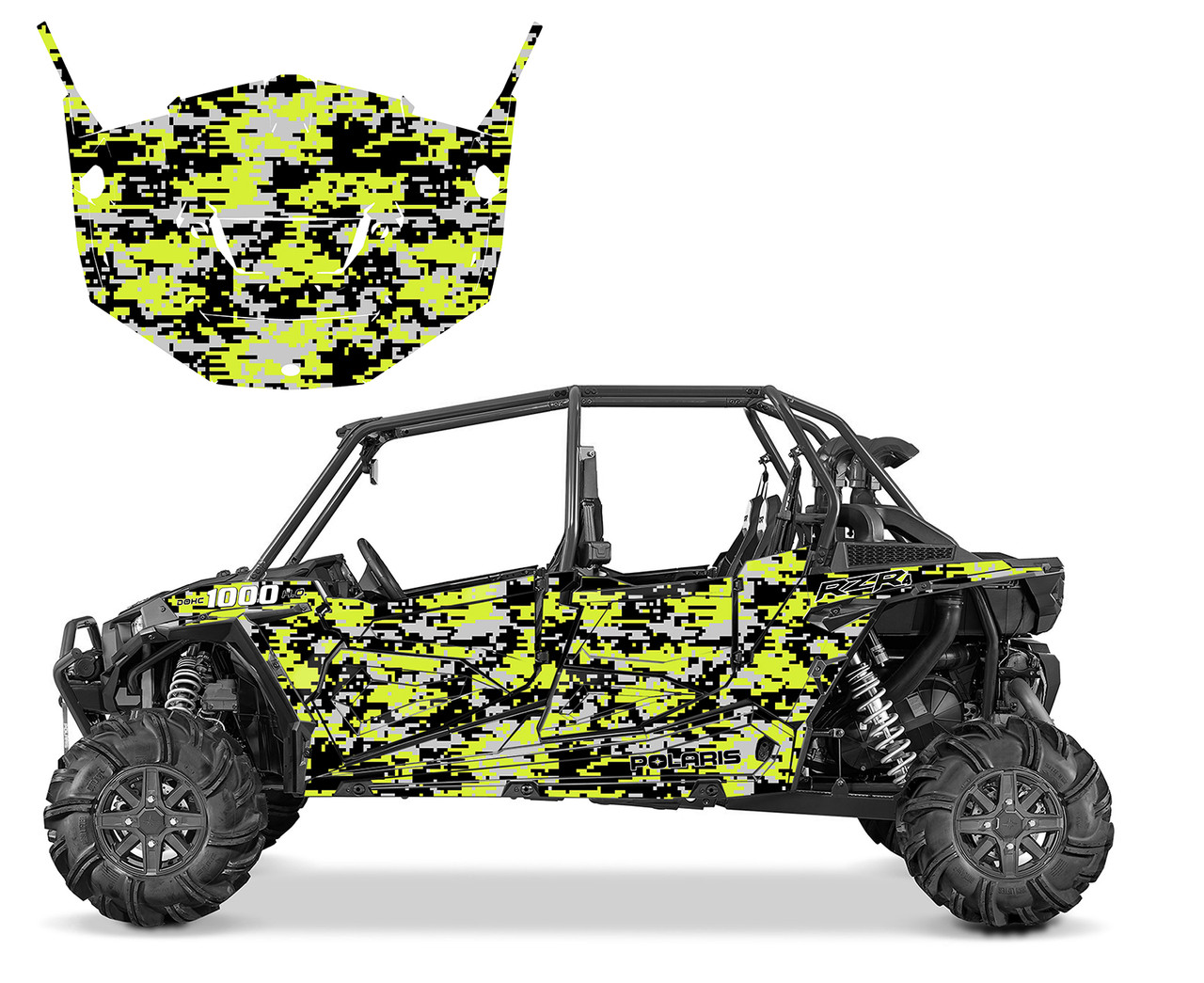 RZR4-1000 Neon Digital Camo graphics wrap kit