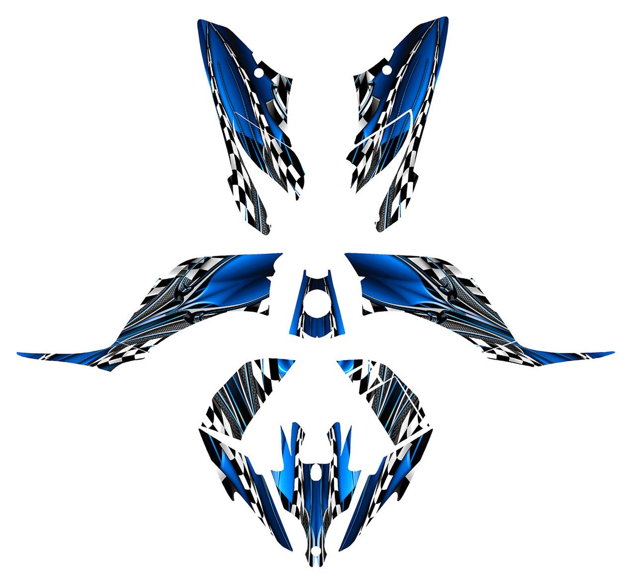 Raptor 250r graphics decal kit