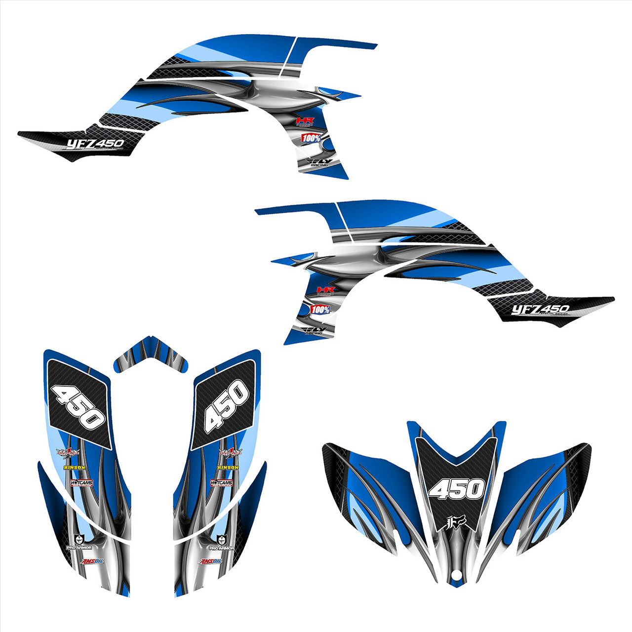 2005 Yamaha YFZ 450 graphics decal kit