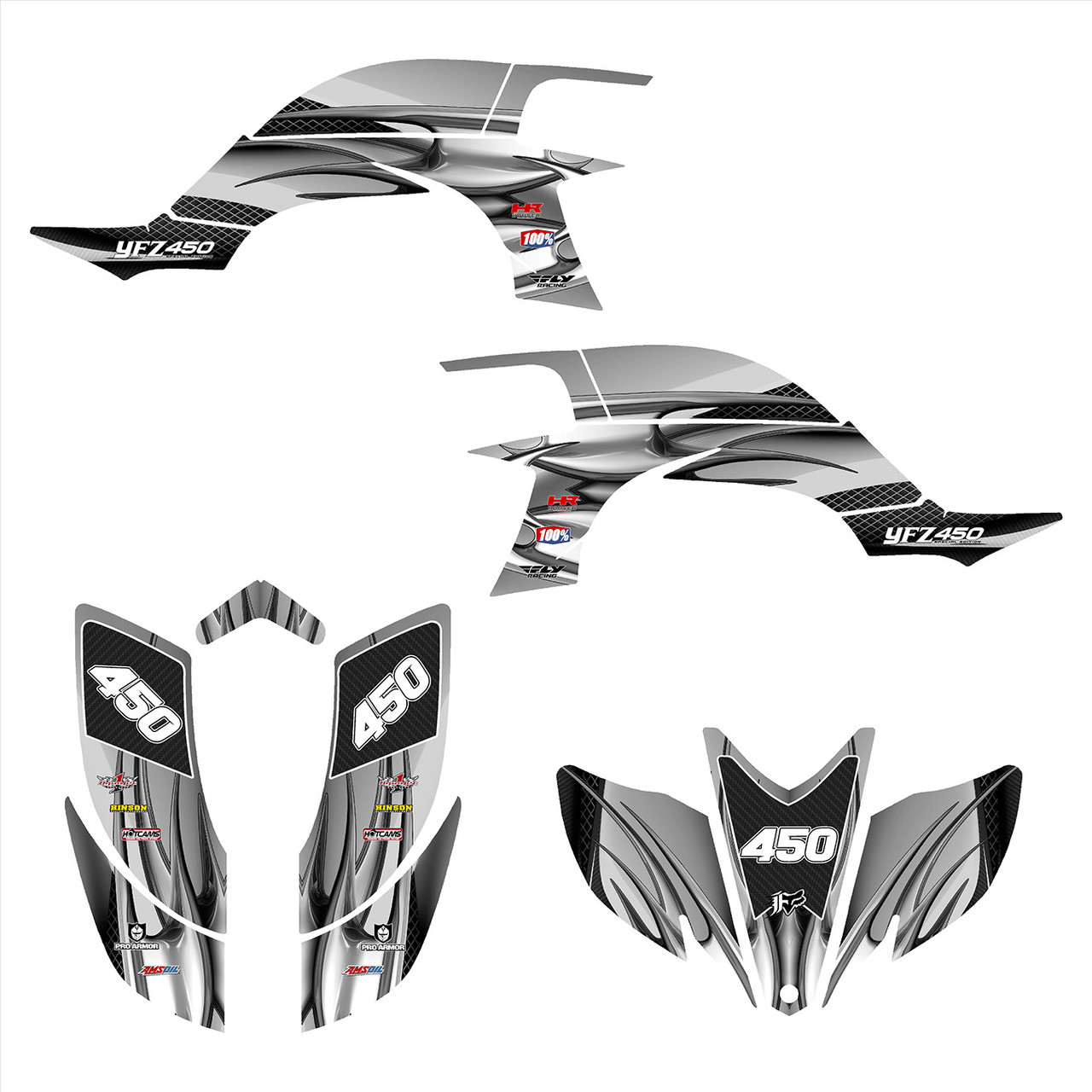 2004 Yamaha YFZ 450 graphics decal kit