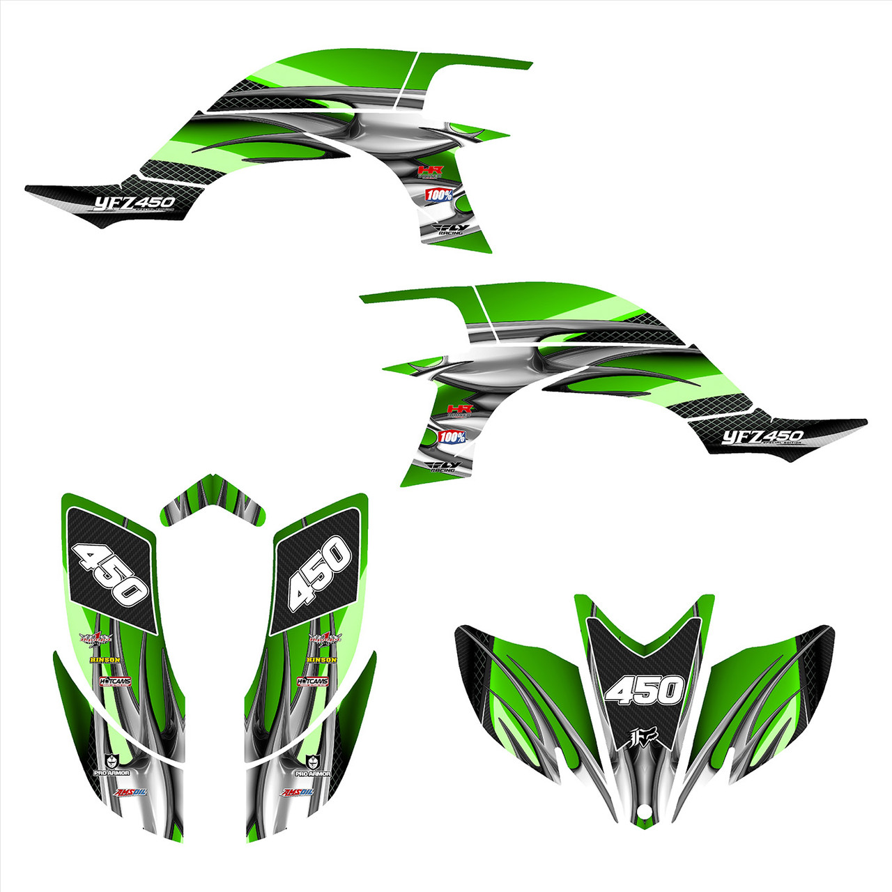 2007 Yamaha YFZ 450 graphics decal kit