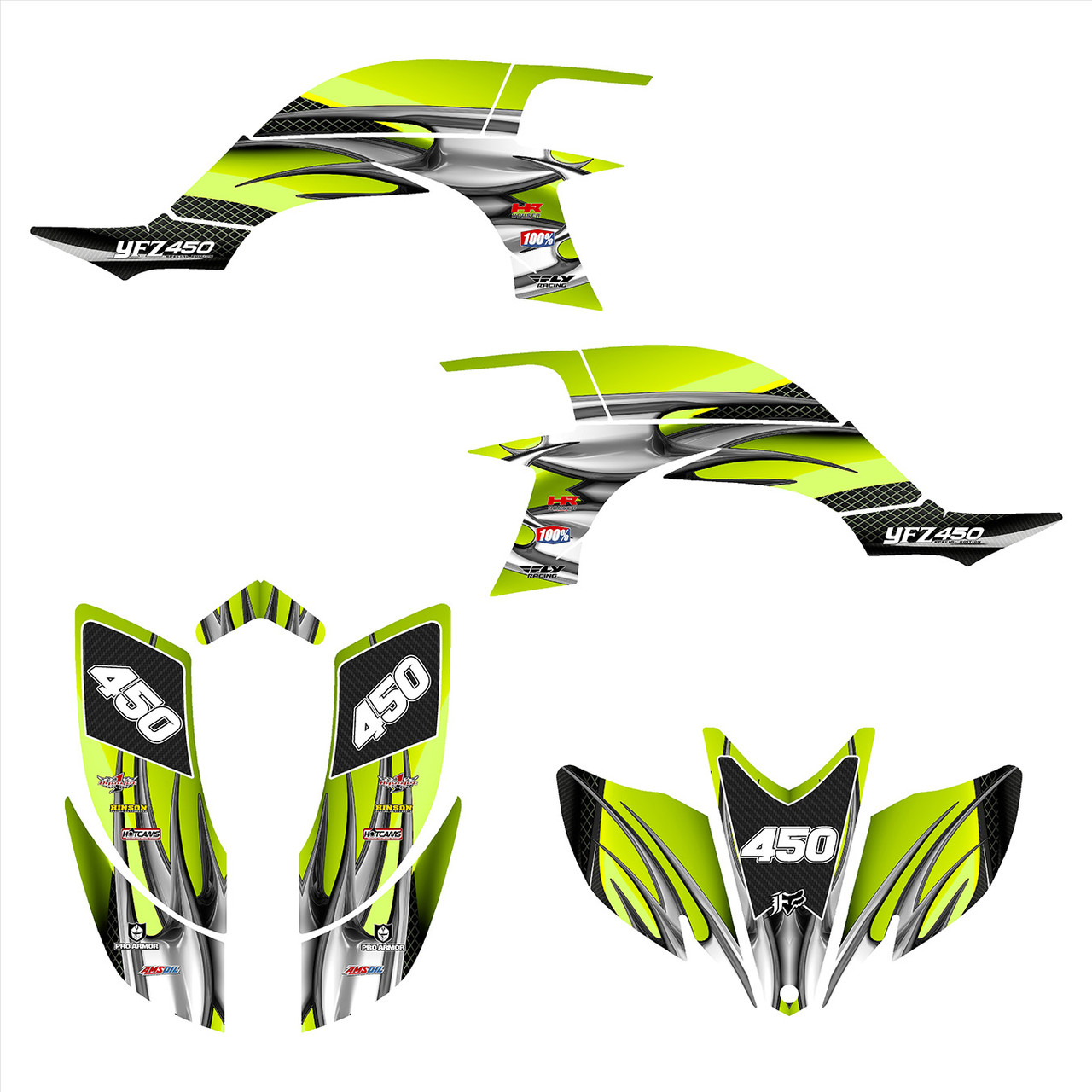 2008 Yamaha YFZ 450 graphics decal kit