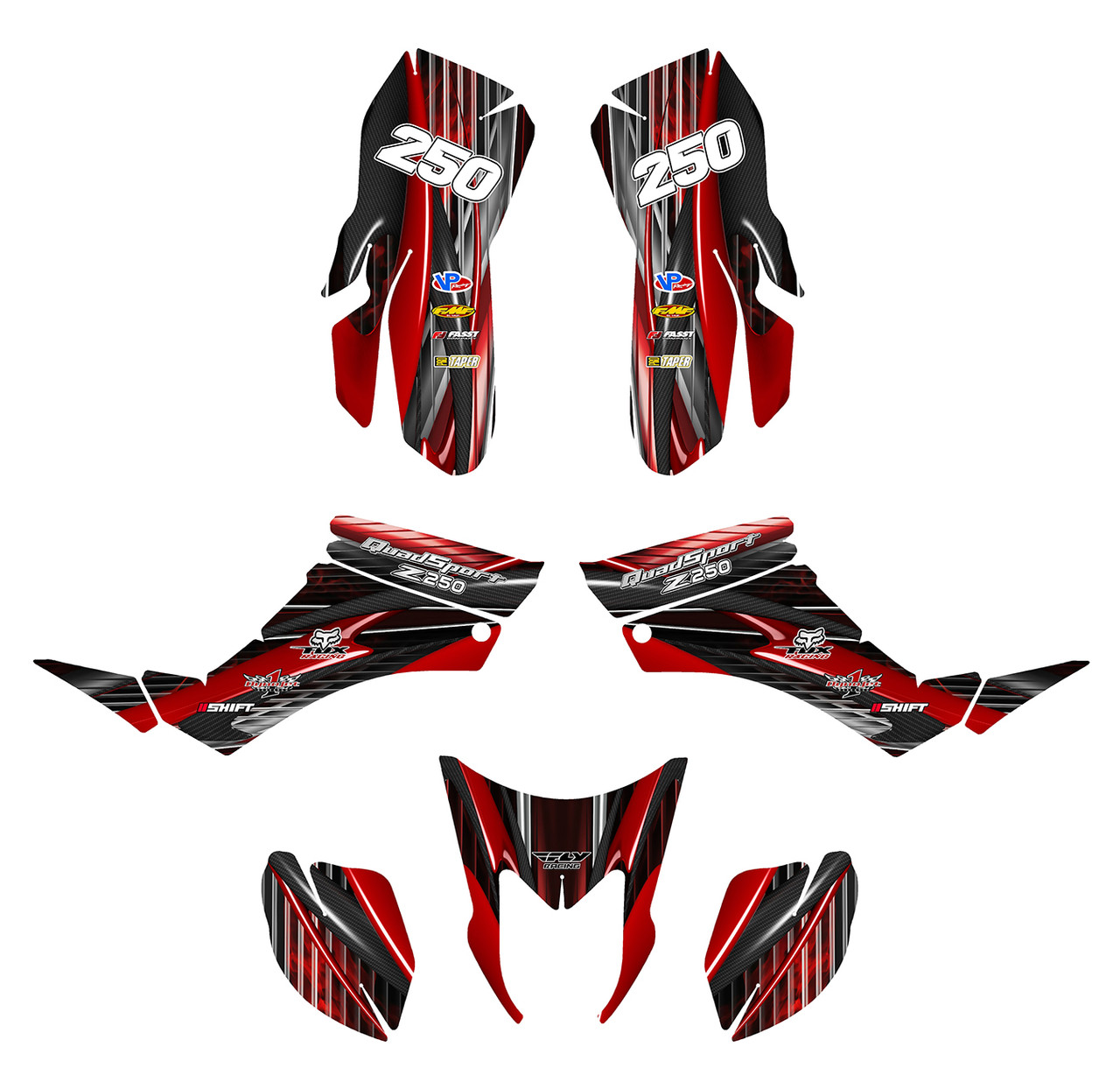 LTZ250 graphics decal kit by allmotorgraphics.com
