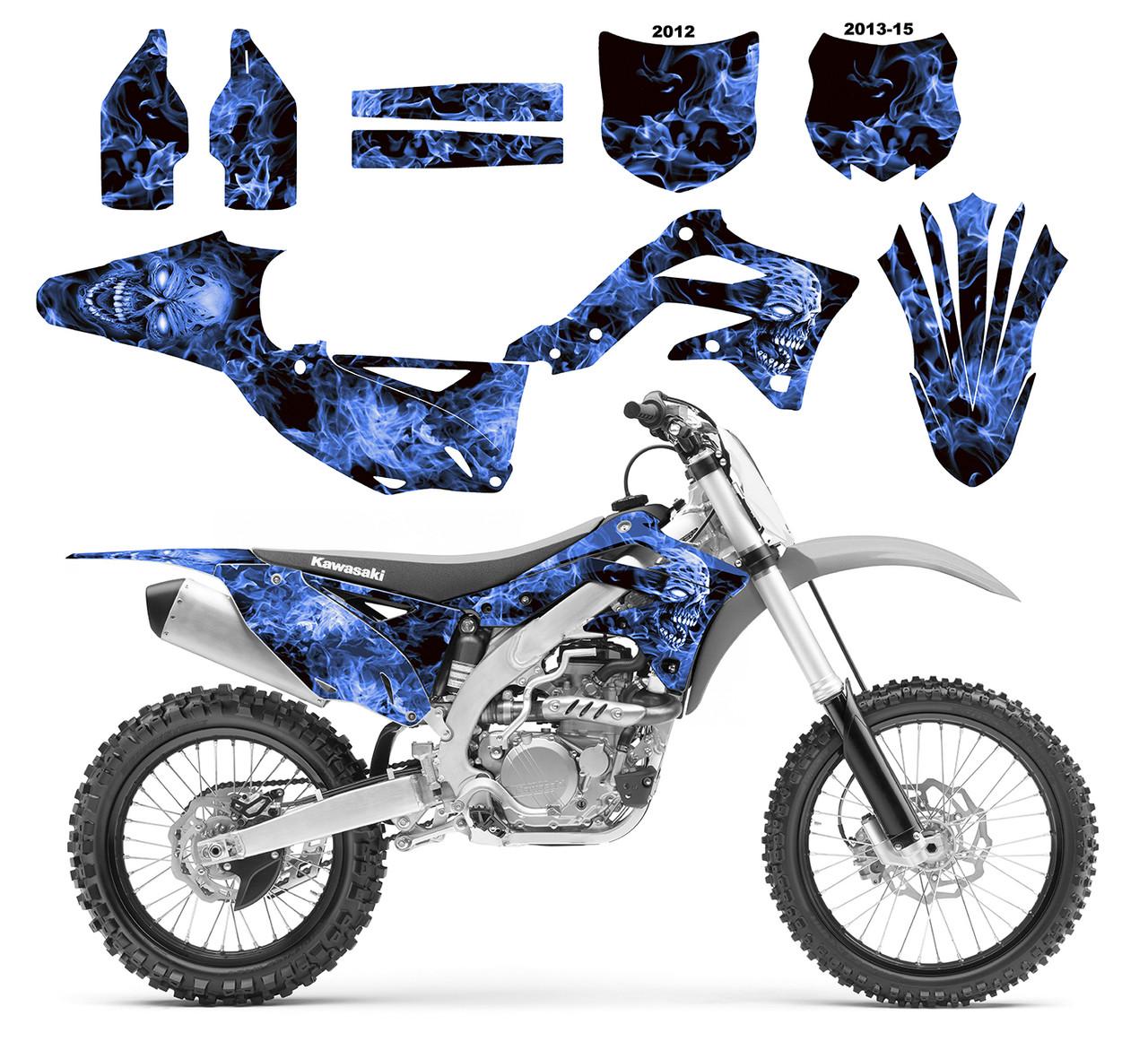 2012 KXF 450 GRAPHIC KIT KAWASAKI KX450F MOTOCROSS DIRT BIKE PURPLE DECALS