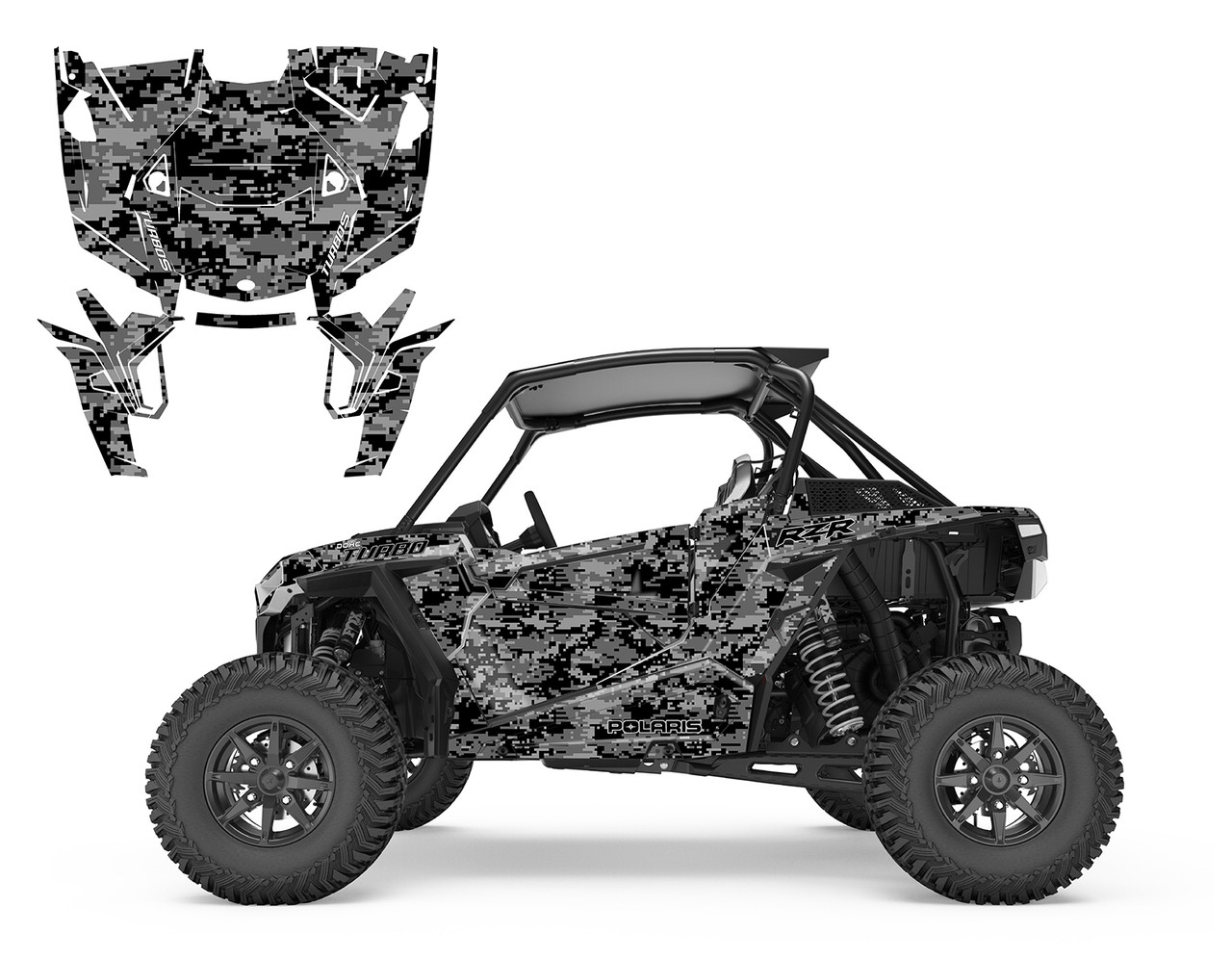 Digital Camo graphics wrap for RZR1000 turbo S
