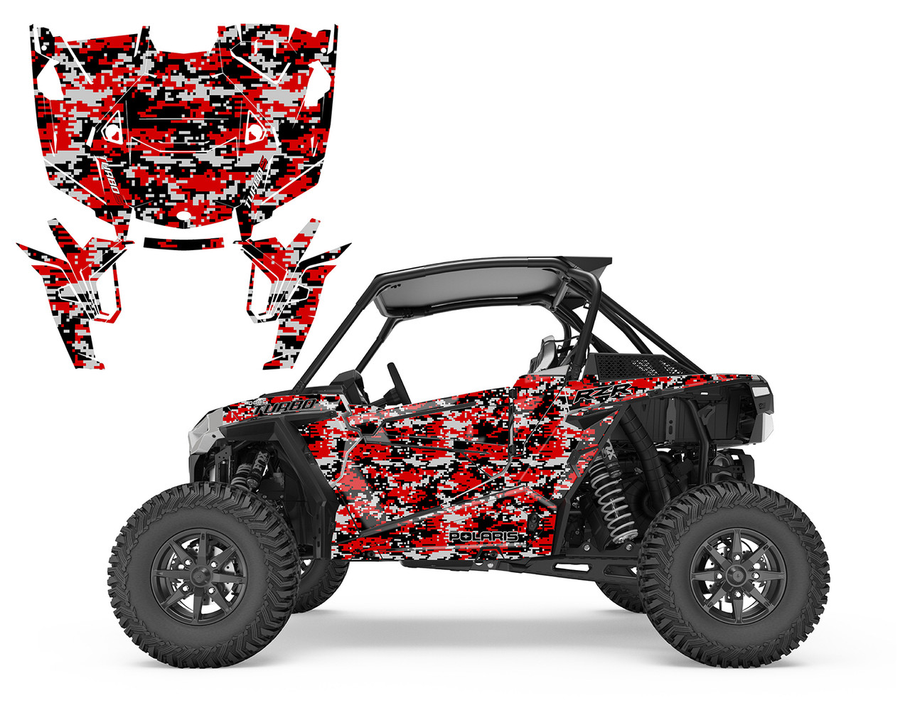 Graphics kit for Honda TRX 400 EX 400EX 1999-2007 NO9500 metal Zombie Skul