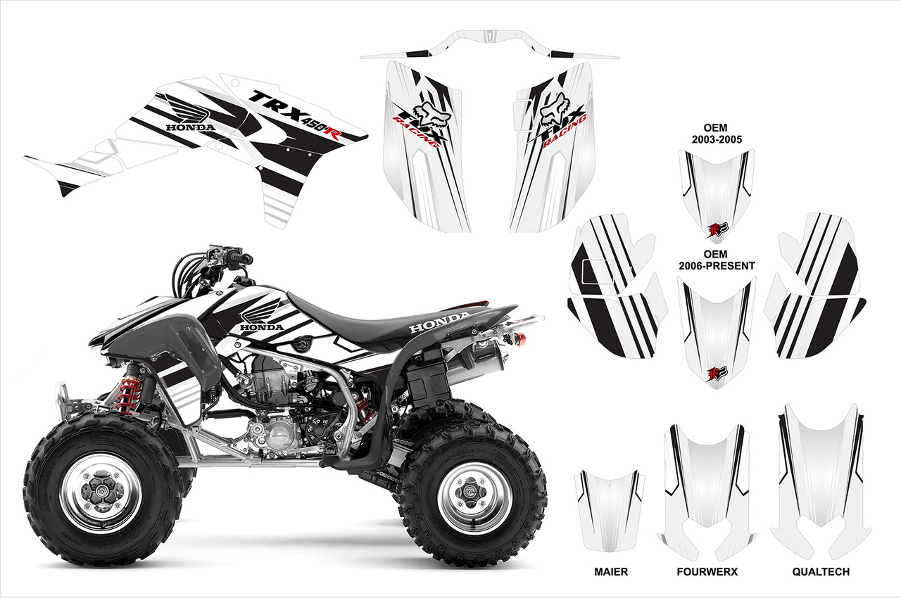 Fox Head graphics kit for TRX 450r four-wheeler
