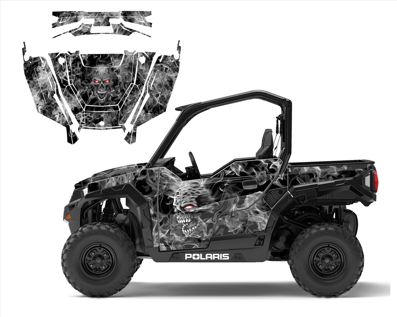 Polaris General 1000 graphic kit with Zombie Skull