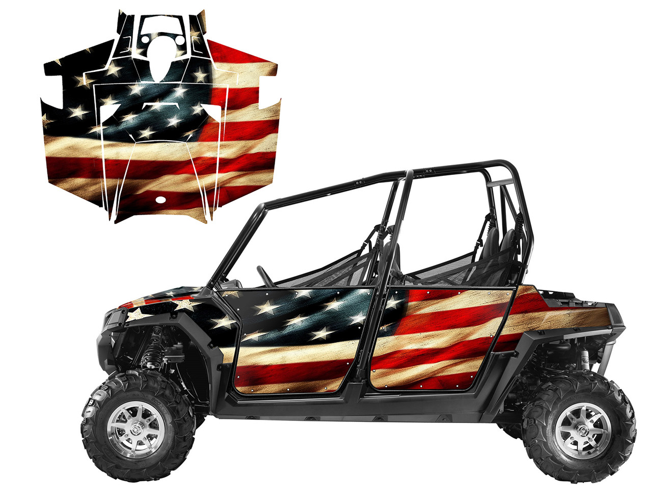 American Flag wrap for 2011-2014 RZR 800 4 seater