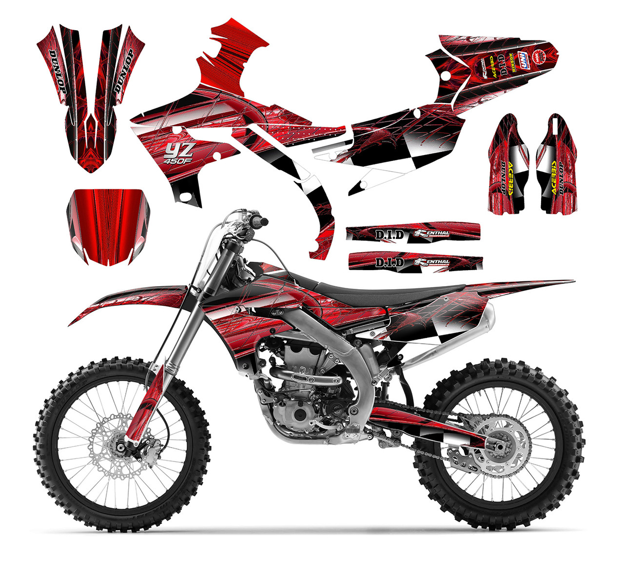 2019 2020 Yz250f Yz450f Graphics Decal Kit Design 2001
