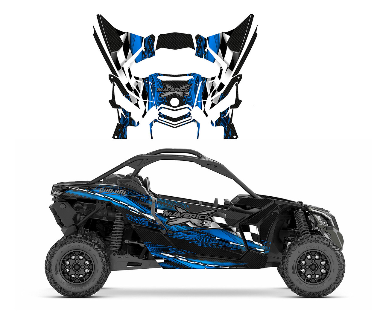 Can am X3 custom graphics wrap kit